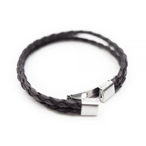 Kunstlederarmband aus geflochtenen Bändern