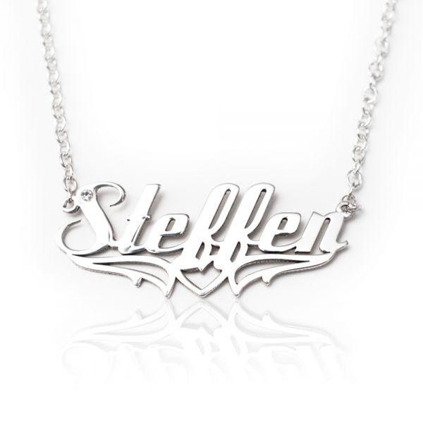 Namenskette mit Tribal (Steffen)
