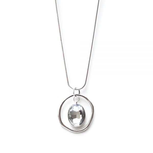 Filigrane Halskette mit Kristall-Anhänger