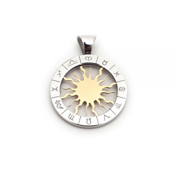 Symbolträchtiger Kettenanhänger »Sonne & Sternzeichen«