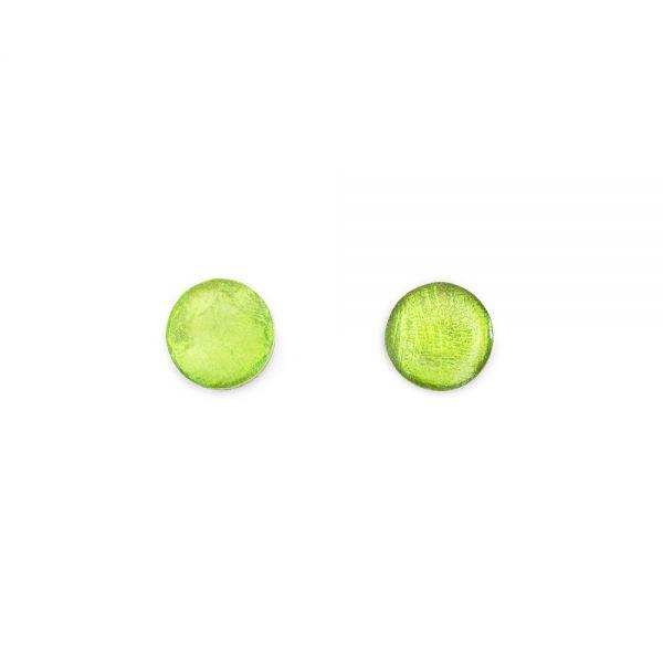 Grüne Perlmuttohrstecker