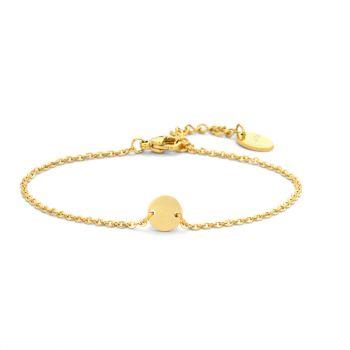 Damen Armband mit Gravur gold Initialen