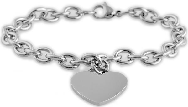 Akzent Edelstahl-Armband mit Herzanhänger