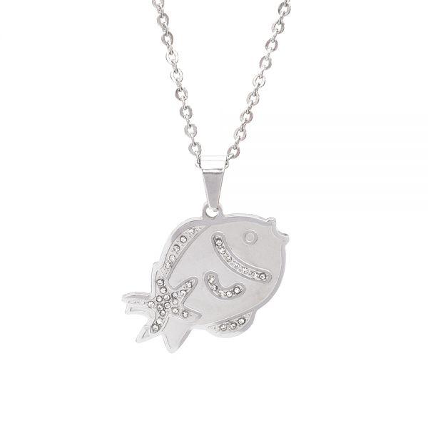 Halskette mit Fischanhänger