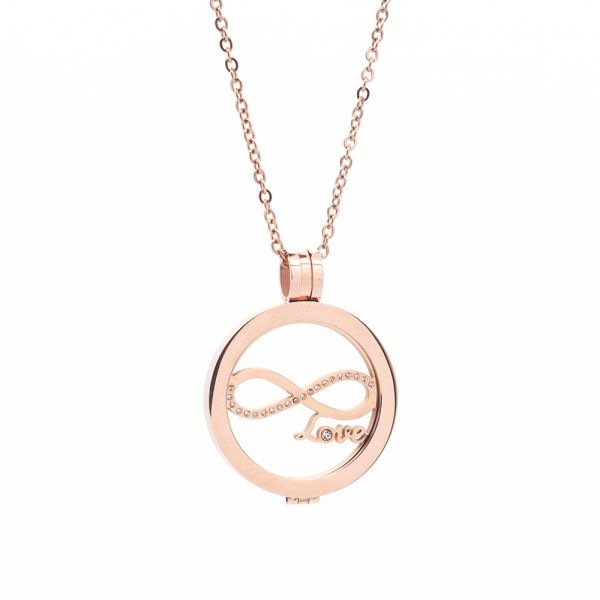 "Coin Kette ""Love"" rosegold"