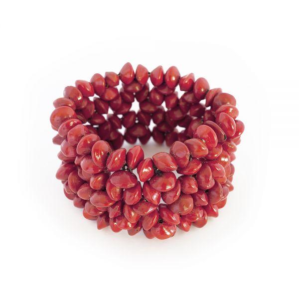 Schickes elastisches Armband aus rotem Samen