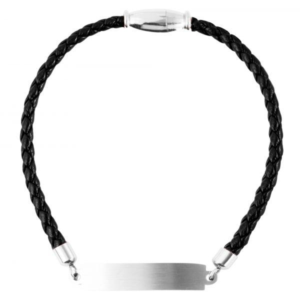 Schwarzes Gravuramband für Damen