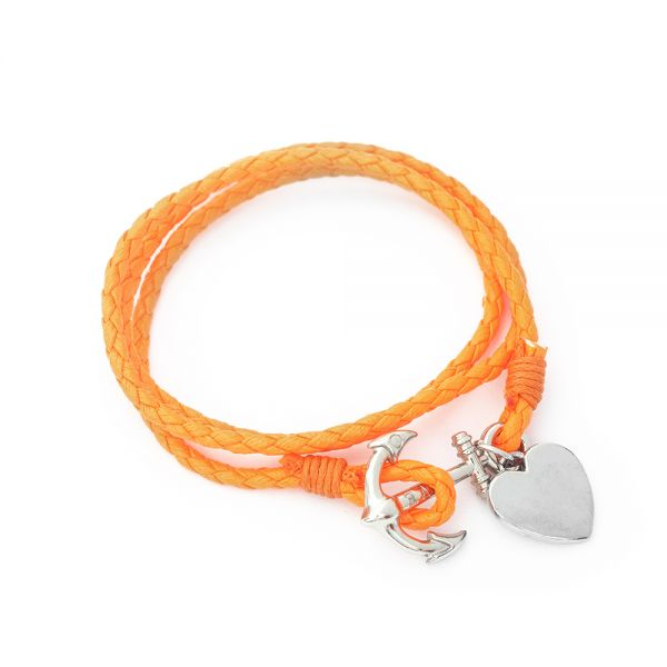 Wickel Armband mit Gravur orange