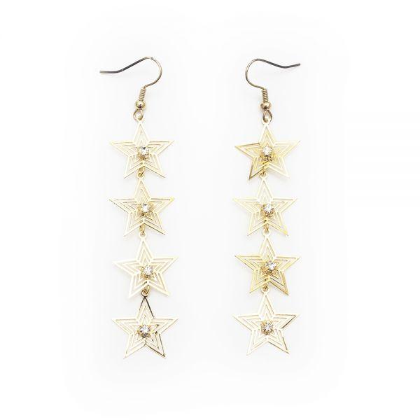 Glitzernde Ohrringe mit Sternen