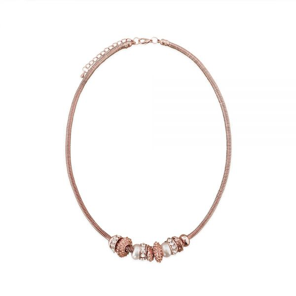 Beads Collier rosegold