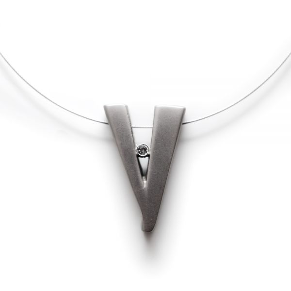 Designer Edelstahl-Halskette