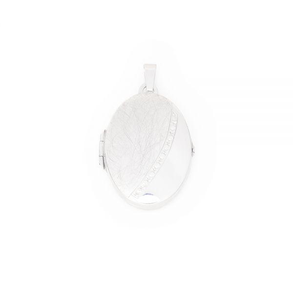 Schönes, ovales Medaillon aus 925er Silber