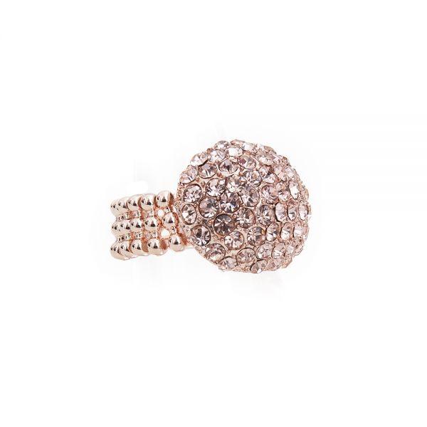 Elastischer Ring rosegold