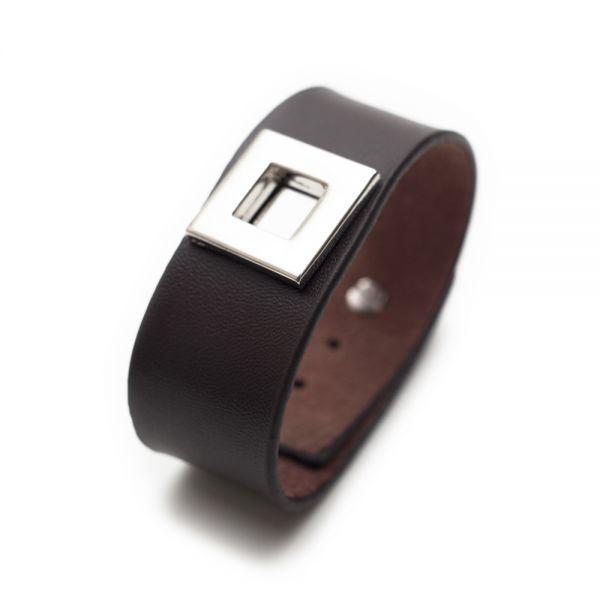 Stilvolles Herren-Armband aus braunem Leder