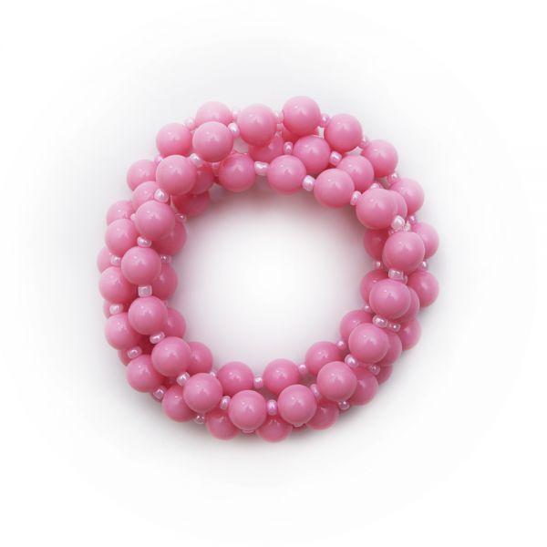 Schöne Vintage Perlenkette in rosa