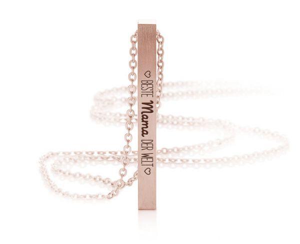 """Schmuck-Barren-Halskette mit Gravur """"Beste Mama der Welt"""""""