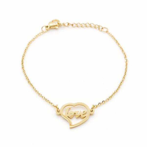 "Armband ""love"" goldfarben"