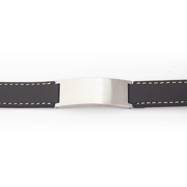 Braunes Echtleder Armband mit Gravur