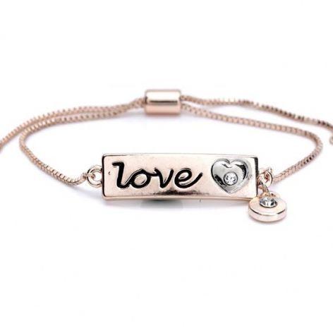 LOVE-Armband rosegold