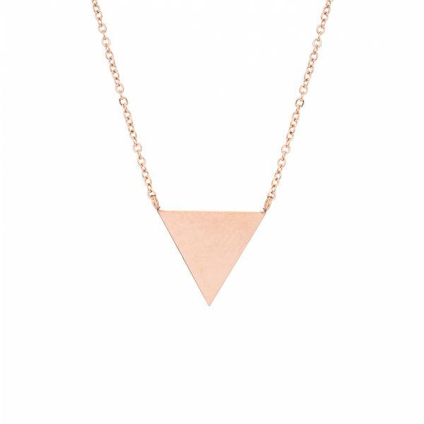 Kette Triangel mit Gravur rosegold
