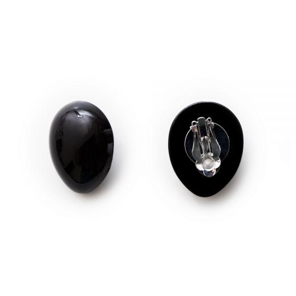 Tropfenförmige Ohrclips aus Kunststoff