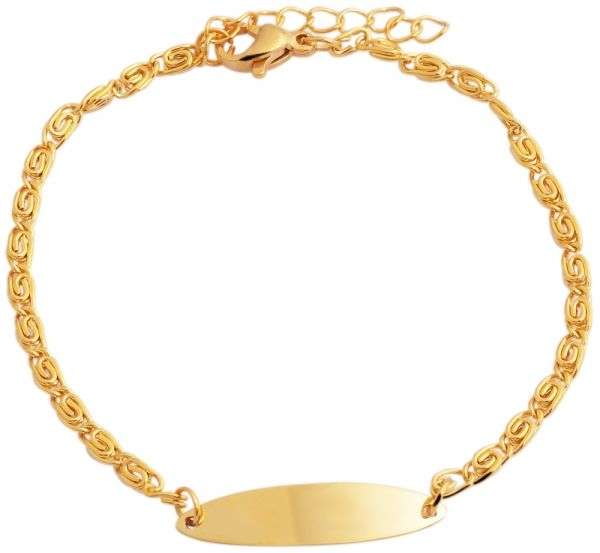 Vergoldetes Edelstahl-Gravur-Königsarmband-1