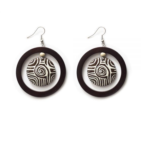 Afrikanische Ohrringe aus Holz
