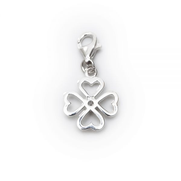 Charm »Blume mit Stein«