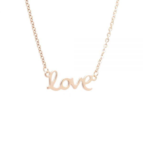 """Halskette """"love"""" rosegold"""