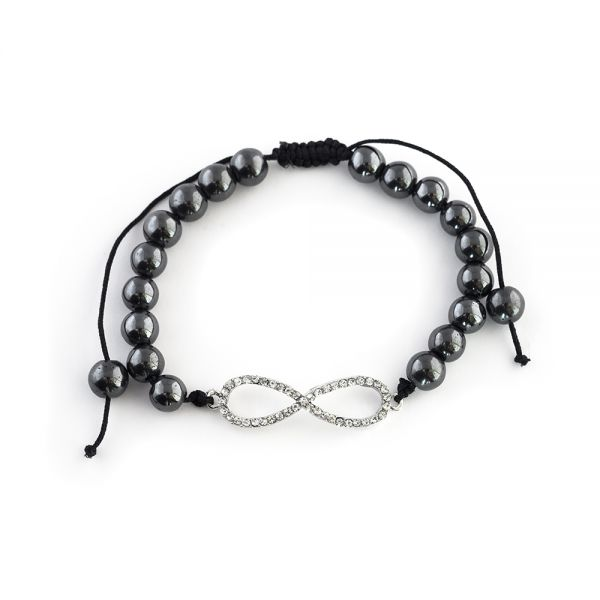Perlenarmband mit Infinity-Symbol