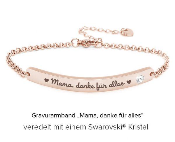 "Gravurarmband ""Mama, danke für alles"" rosegold"