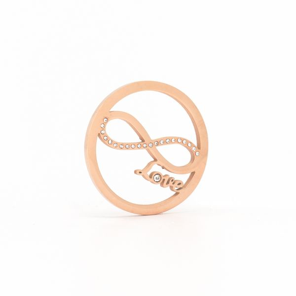 "Coin ""Love"" rosegold"