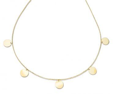 Collier 925 Silber Damenkette Plättchen Gravur